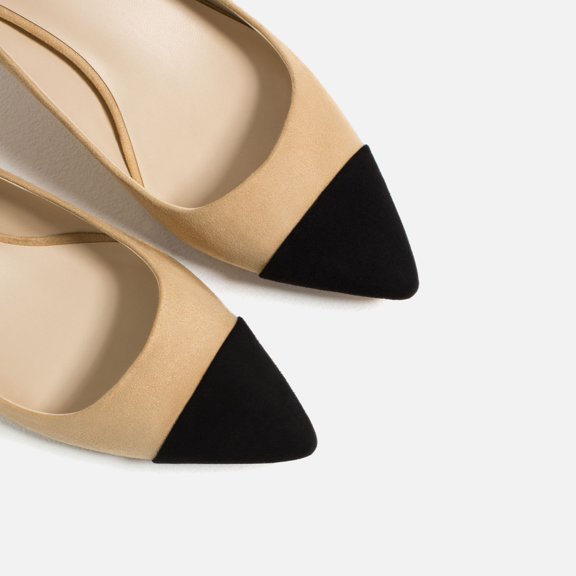 49538df48fb9 MID-HEEL SHOES WITH CONTRASTING TOE CAP 2 - EXME GALLERY